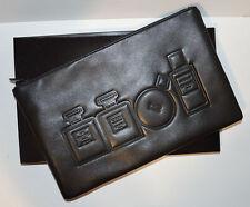 NIB BLACK CHANEL COSMETIC BAG/CLUTCH (FAUX LEATHER)