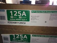 Siemens 125 amp Breaker Panel