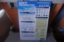 SilkAir B737-8/-800 Safety Card -- SUMMER SALE!