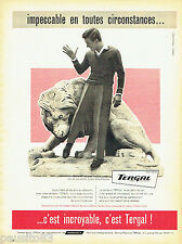 PUBLICITE ADVERTISING 106  1958  pantalon homme Tergal Rhodiaceta