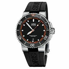 ORIS 01 733 7653 4128-07 4 26 34EB Men's Aquis Date Black Automatic Watch