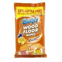 Duzzit Wood and Laminate Floor Cleaning Wipes Pack of 24 Extra Strong NEW