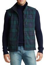 New $168 Polo Ralph Lauren Men's Blackwatch Plaid Water-Repellent Barrier Vests