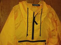 Outfitters Orange Hooded Pullover Windbreaker Zippered Medium
