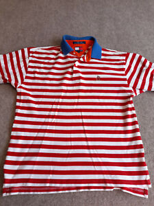Tommy Hilfiger Polo Shirt Candy Cane Colorway Adult Medium Red White Striped