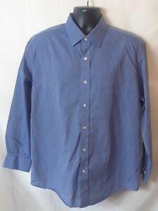 Nautica Mens Shirt Size L 16.5 32/33 Blue Button Up Long Sleeve