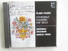 ENSEMBLE ORGANUM - Plain Chant - CD Album - 1990 - Marcel Peres