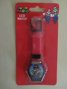 NINTENDO SUPER MARIO MARIO BROTHERS LCD WRISTWATCH RED BAND NEW IN PACKAGE