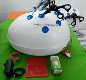 Laparoscopic Virtual Simulator Practice Training box Kit Surgical Instrument Set