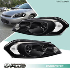 Fit For 2006 2016 Chevy Monte Carloimpala Blackclear Headlights Replacement Fits 2006 Impala