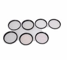 Vivitar Mixed Lot of 7 Camera 55mm Lense Filters - TOPAZ UV HAZE SKYLIGHT