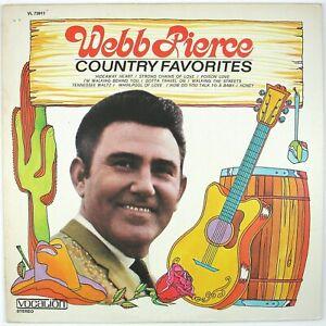 WEBB PIERCE Country Favorites LP 1970 COUNTRY NM- NM-