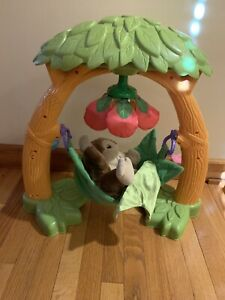 RARE Fisher Price Green Snugglekins Jungle Cradle Play Set 2007