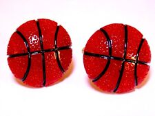 Handmade, Basketball Resin Silver Plated Cufflinks, W/Gift Box!