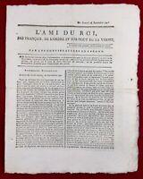 L'ami du Roi 1791 Rare Journal Royaliste Révolution Française Palais Royal Paris