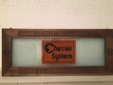 New listing Chessie Etched Glass Framed Picture