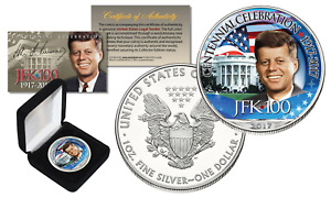 Kennnedy JFK 100 Birthday Celebration 2017 1 oz .999 AMERICAN SILVER EAGLE w/BOX