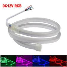 DC 12V RGB 5050 80LEDs/M Neon LED Strip Light Lamp Tube Waterproof Flexible DIY