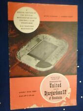 1964/65 Fairs Cup MANCHESTER UNITED v DJURGARDENS- Token intact