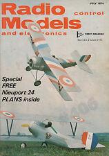 NIEUPORT 24 PLANS - Radio Control Models and Electronics Magazine 1976 MAP Hobby