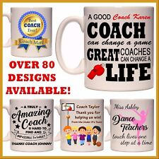 Personalised Coach & Sports Mug - Team Thank You Gift Dance Teacher Soccer Etc