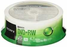 50 Sony Rohlinge DVD RW 4 7gb 4x Spindel