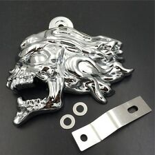 """Chrome Zombie Head Horn Cover For 92-16 Harley w/ Side Mount """"Cowbell"""" all V-Rod"""