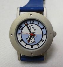 Tintin just Snowy watch ladies/child blue in decorative tin year 2000 #7