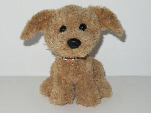 "Hallmark Puppy Dog Plush Brown Tan Orange Collar 7"" Stuffed Animal Bean Bag Toy"