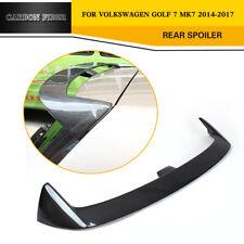 Rear Roof Spoiler Wing Refit for Volkswagen VW Golf 7 MK7 2014-17 Carbon Fiber
