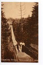 CANADA carte postale ancienne VANCOUVER capalino bridge