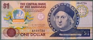 BAHAMAS 1 DOLLAR COMMEMORATIVE UNC  NOTE FROM 1992, P 50, COLUMBUS