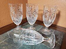 """`4 Godinger """"Palm"""" Iced Tea Goblets Glasses 7 7/8"""""""