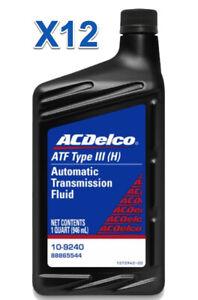 12 Quarts Automatic Transmission Fluid AcDelco GMC OEM Dexron III(H)