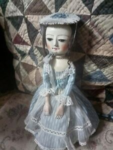 Queen Anne Style wooden Doll 11 (28 cm ) tall by Marina Savchuk.