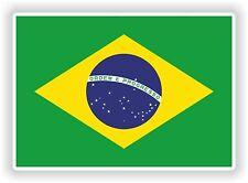 "Adesivo Bandiera Brasiliana Brasile 2,8x4"" 7x10cm Paraurti Decalcomania Tablet PC auto bici auto"