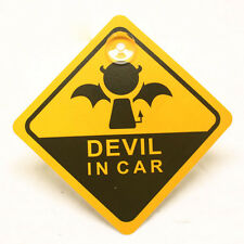 X2 FUN CUTE BABY ON BOARD DEVIL IN CAR SIGN CAR WINDOW SIGN - HALLOWEENN BABY