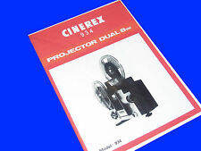 CINEREX 934 Instruction Book For 8mm Cine Projector