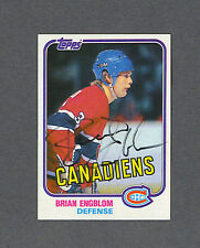 Brian Engblom signed Canadiens 1981-82 Topps hockey card