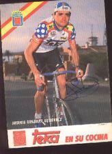 ARSENIO GONZALEZ GUTIERREZ cyclisme Signed TEKA Team autograph cycling ciclismo