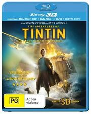 The Adventures Of Tintin - Secret Of The Unicorn (Blu-ray 3D, 2012, ) Ex rental