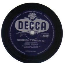 JOAN REGAN - Wonderful! Wondeful! 78 rpm disc