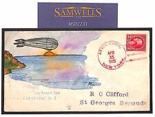 Dirigible MS 2231 * 1925 EE. UU. * Los Angeles * cubierta de vuelo de mano-Ilustrado Bermuda