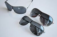 BRAND NEW Shield Wrap Aviator Metal Sunglasses Aviator Frame Polarized Lens
