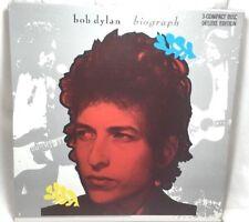 Bob Dylan Biograph 3 CD BOX SET With Book Box Yellow Sheets interpreting Songs