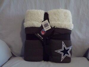 NFL Dallas Cowboys 100% Super Soft Sherpa Throw Blanket