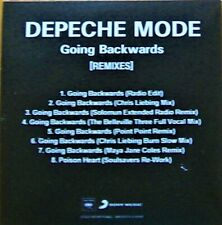 DEPECHE MODE - GOING BACKWARDS [REMIXES] - FRENCH 8-TRACK PROMO CD - RARE !!
