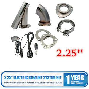 2.25'' Inch Electric Exhaust No Valve Catback Downpipe System Kit Remote Control