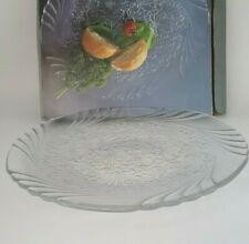"Prisma Primrose 15"" Crystal Serving Tray Platter Made in Japan"