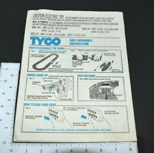 Vintage Tyco Slot Car Race Track Assembly Instructions 440-X2 Cliff Hanger Model